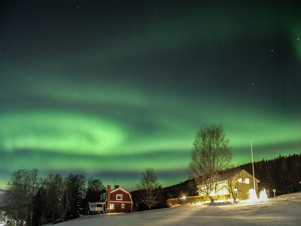 Aurora over Solberg Jan 2015
