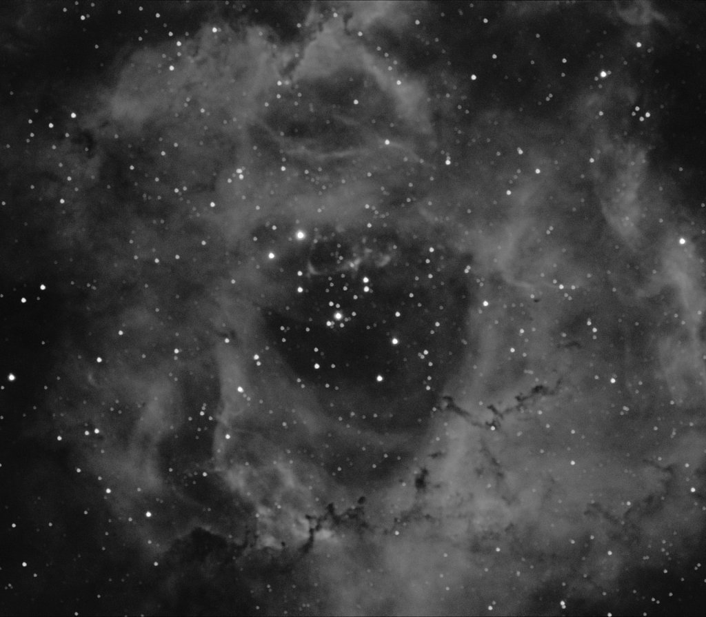 Core of Rosette Nebula in Halpha