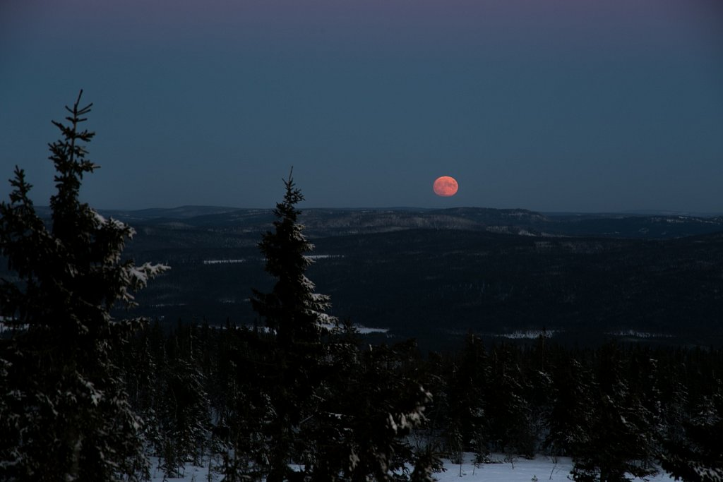 Blood Moon over Solberg