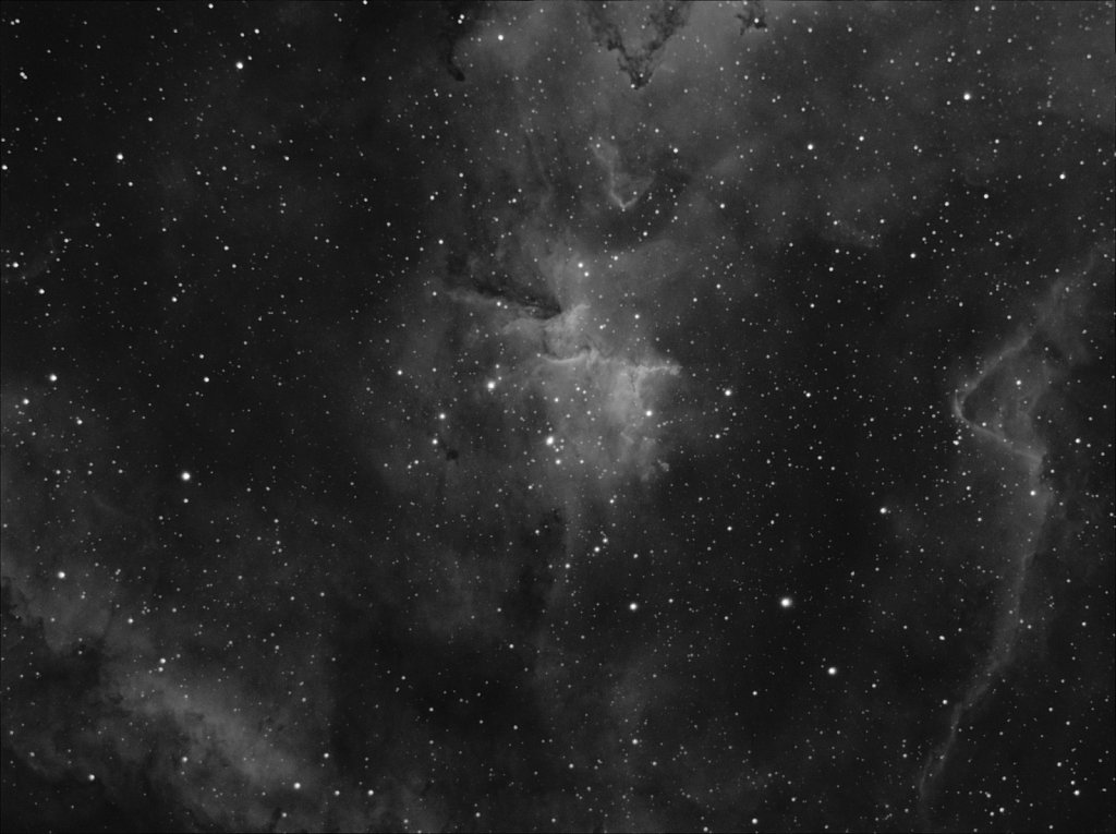 Core of IC1805 Heart Nebula (Ha)